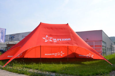 doublepole tepee red